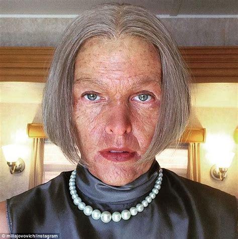 milla jovovich full movies milla jovovich transforms into elderly alice for resident