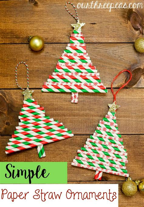 How To Make Paper Straw - simple paper straw ornaments our three peas