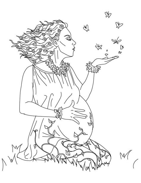 gods and goddesses colouring pages