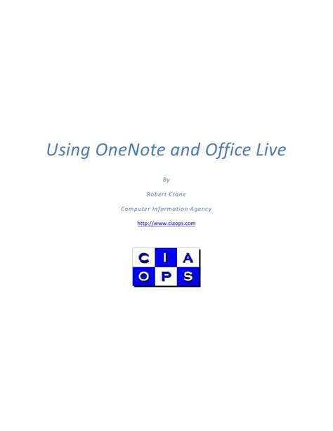 Office Live Onenote And Office Live