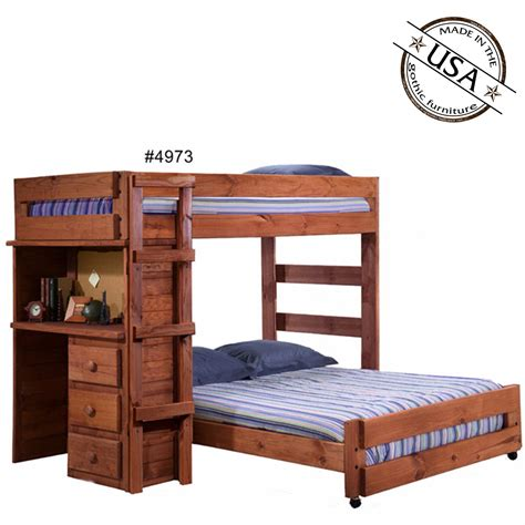 Solid Pine Bunk Bed With Desk by Loft Bed With Desk Solid Pine