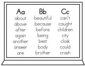 Second grade these words are more commonly referred to as wall words