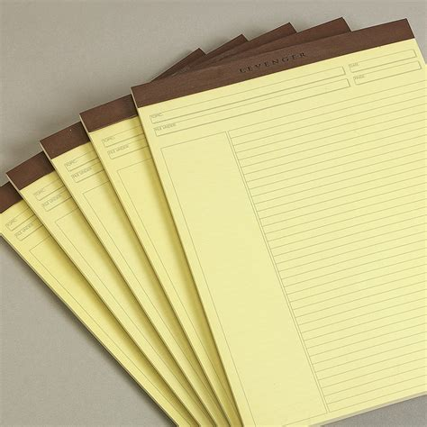 How To Make Pads Of Paper - freeleaf yellow annotation ruled pads letter paper