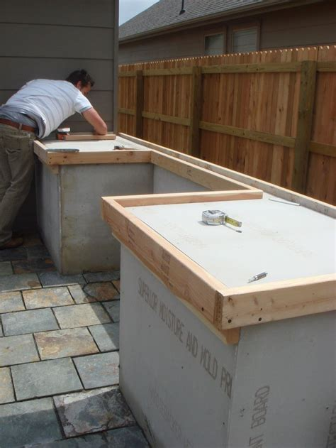 diy concrete countertop  outdoor cooking spot   home pinterest outdoor cooking
