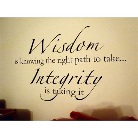 Quotation Wall Stickers wisdom and integrity quote wall sticker
