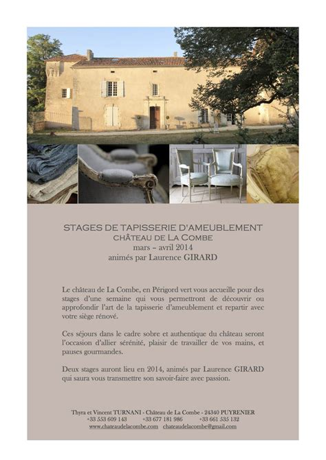 Stage Tapisserie Ameublement by Tapisserie D Ameublement