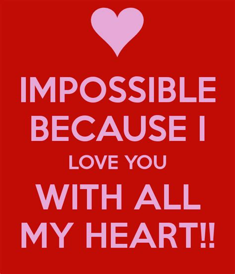 because i want to paint all of my ikea furniture home impossible because i love you with all my heart poster