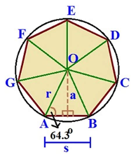 heptagon interior angles match problems and answers