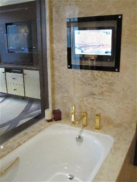 can you put a tv in the bathroom sinks in the bathroom picture of fairmont beijing