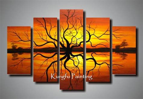 Where To Buy Paintings For Home Decoration Wall Designs Where To Buy Wall Painted Tree Goods Wall 5 Panel Canvas Tree