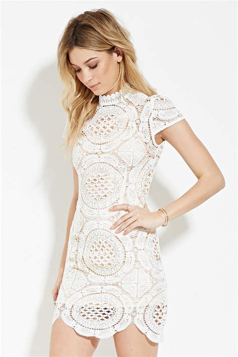 White Flower Crochet Dress white crochet v neck dress fashion dresses