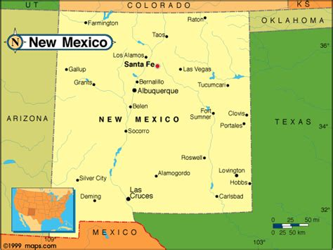 texas and new mexico map with cities new mexico map