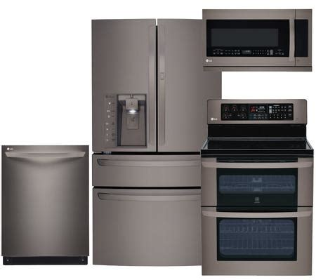 black kitchen appliance package lg black stainless steel kitchen appliance packages lg4pcfsf