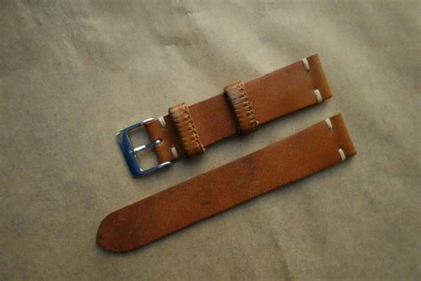 Handmade Leather Nato - various 20mm handmade leather straps and leather nato