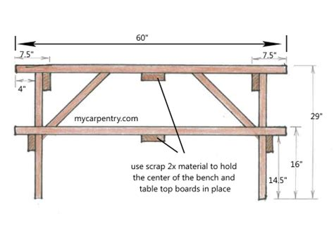 picnic table bench height download bar height picnic table plans plans free