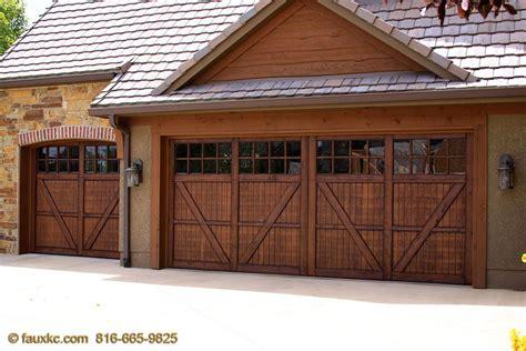 wood garage doors garage doors fauxkc