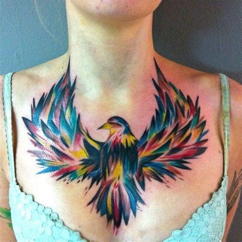 tattoo on chest for female 100 best images about ladies chest tattoos on pinterest