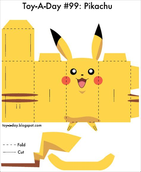 Pikachu Papercraft Template - early childhood 187 archive paper crafts
