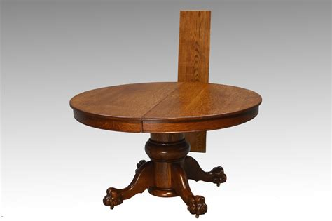 antique round table with claw sold antique victorian large bulbous base oak round dining