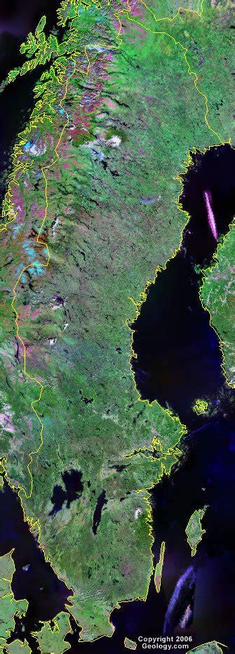 sweden map  satellite image