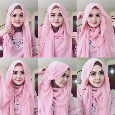 tutorial hijab untuk muka bulat hiijab syarii berhijab untuk muka bulat images