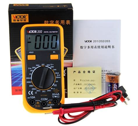 diode function multimeter aliexpress buy victor202 vc202 digital multimeter with diode tester function backlight