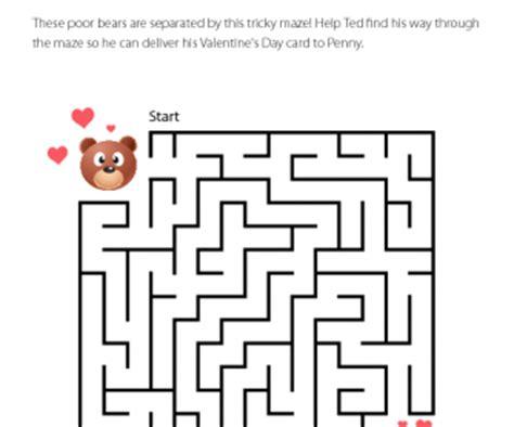 printable maze ks2 valentine s day maze