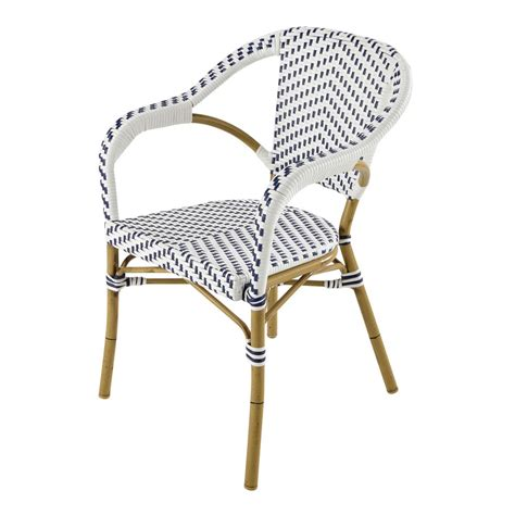 white wicker armchair wicker garden armchair in white blue kafe maisons du monde