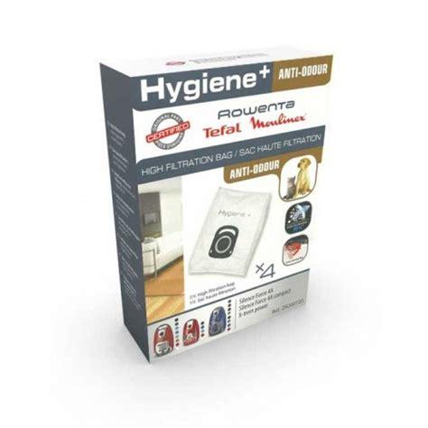 sacs hygiene anti odeur rowenta silence 4a aspirateur z