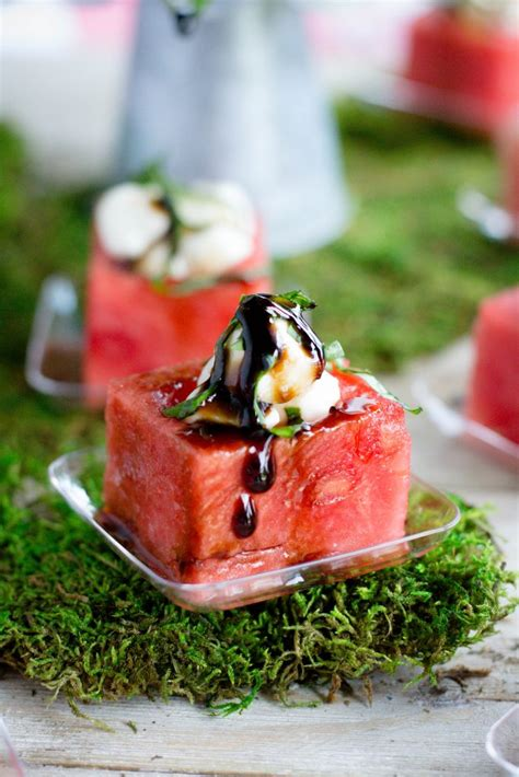 watermelon caprese cups with balsamic glaze what the