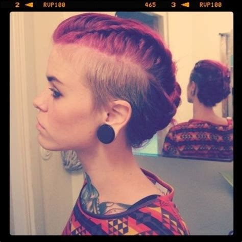 full braids with shaved sides best 25 long shaved hairstyles ideas on pinterest