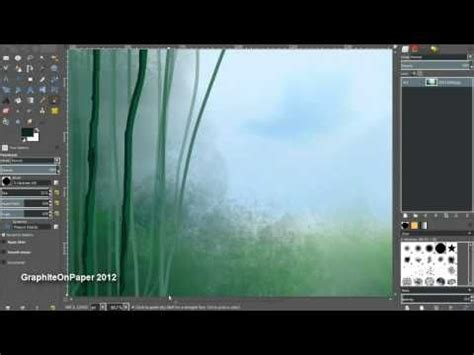 gimp tutorial landscape speed painting a forest scene gimp 2 8 painting