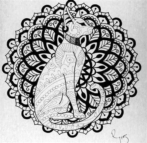 egyptian mandala coloring pages gatos mandalas and tatuaje egipcio on pinterest