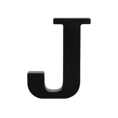 Wooden letters black - Typoland J
