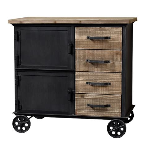 Commode Enfilade by Bahut Enfilade Commode Bois Fer Chemin De Cagne Industriel