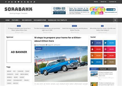 sora templates for blogger sora bank blogger template blogspot templates 2018