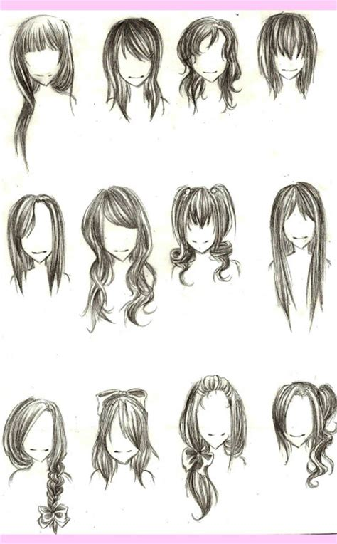 i really wanted to draw some hair styles by solstice 11 on como desenhar mang 225 gabaritos de cabelos