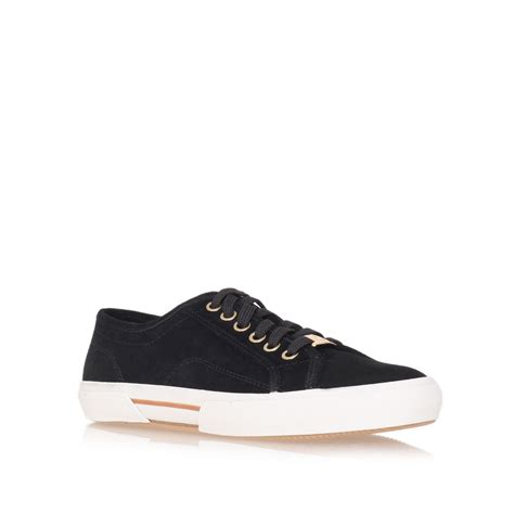 michael michael kors boerum sneaker shoes in black for
