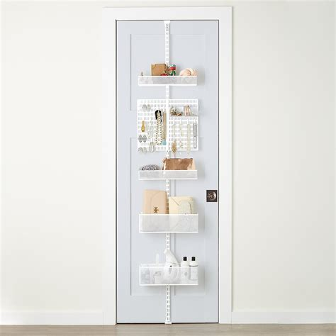 Closet Door Rack White Elfa Utility Mesh Closet Door Wall Rack The