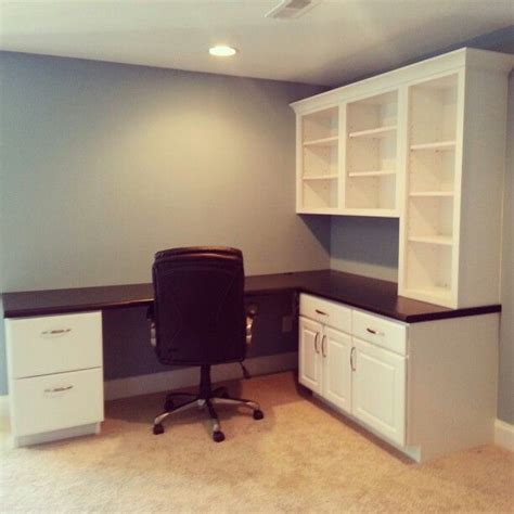 Built In Office Desk Ideas Fabulous Built In Desk Office Space Remodeling Ideas Pinterest