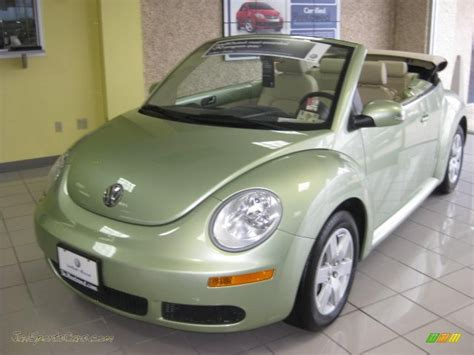 green volkswagen beetle convertible 2007 volkswagen beetle 2 5 convertible in gecko green