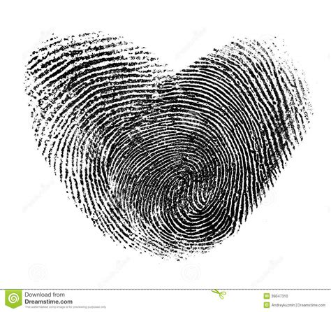 fingerprint heart isolated stock photo image 39047310