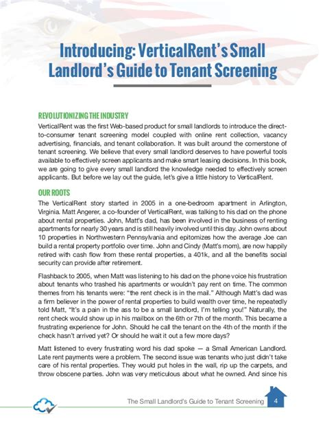 Landlord Tenant Background Check The Small American Landlord S Guide To Tenant Screening