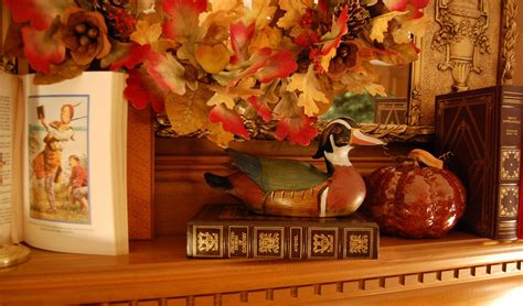 mantles are falling books decorate a fireplace mantel for fall or autumn with books