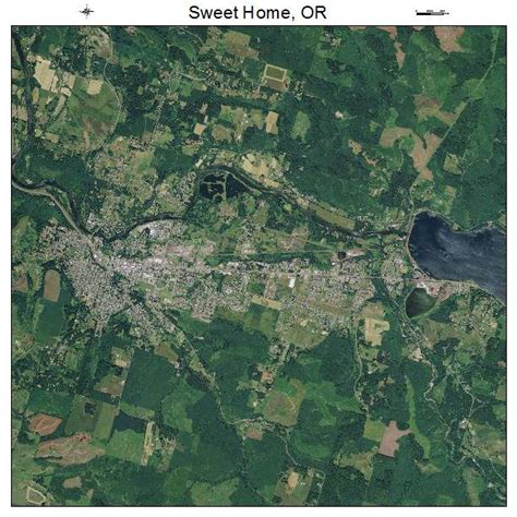 aerial photography map of sweet home or oregon