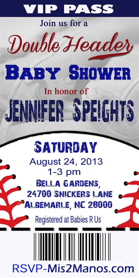 Baby Shower Baseball Ticket Invitations by Baseball Baby Shower Ticket Invitation Baby Shower
