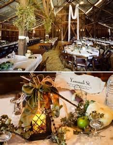 kara seth s fall barn wedding real wedding green