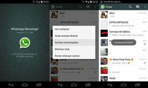 no guardar imagenes whatsapp android whatsapp ya permite archivar conversaciones en su 250 ltima