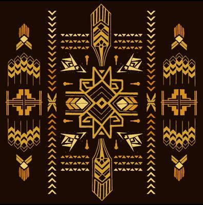 art deco design elements vector golden deco elements art vector materoal 03 vector label