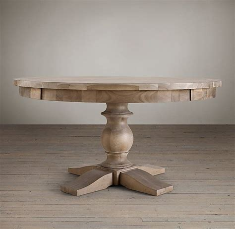 restoration hardware monastery table 17th century monastery round dining table in acacia grey